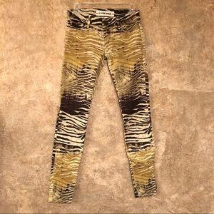 Etienne Marcel Zebra Animal Print Skinny Jeans 24